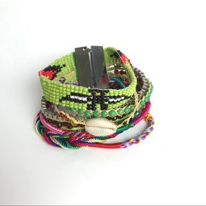 Stacked Puka Shell Friendship Bracelet
